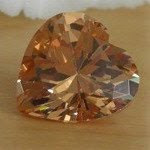 Loose Cubic zirconia Champagne heart shape stones China Supplier