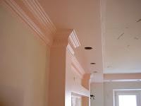 Покраска потолка и конструкций из гипсокартона.