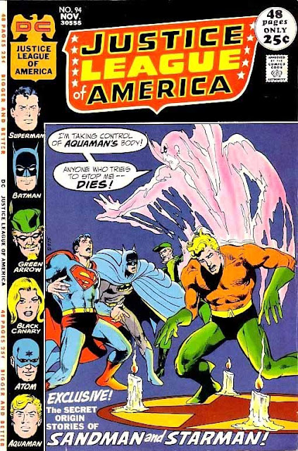 Justice League of America v1 #94 dc comic book cover art by Neal Adams