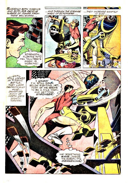 Magnus Robot Fighter v1 #21 gold key silver age 1960s comic book page art by Russ Manning