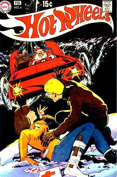 Hot Wheels v1 #6 dc 1970s bronze age comic book cover art by Neal Adams