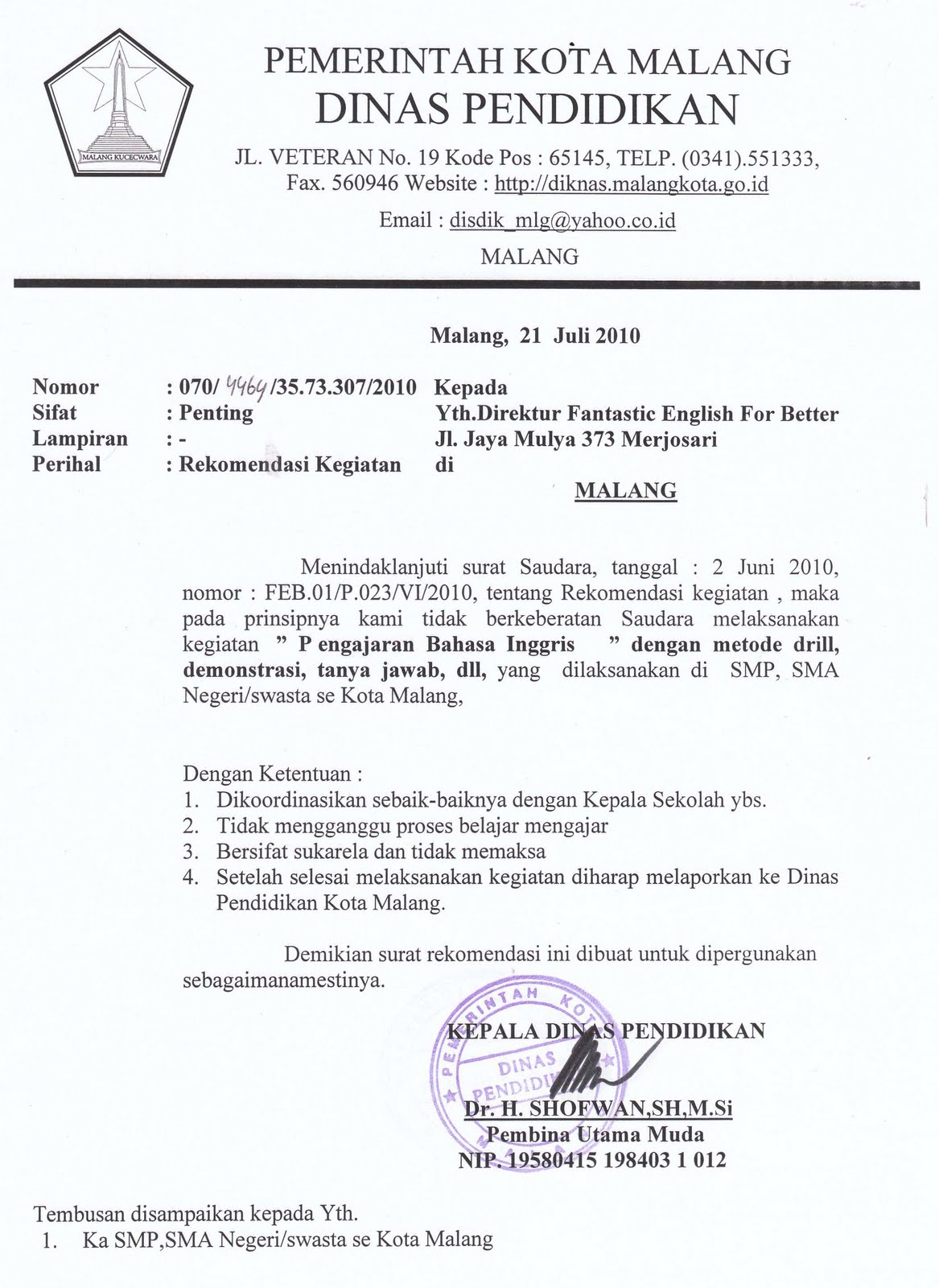 Formal letter format malaysia stopboris Choice Image