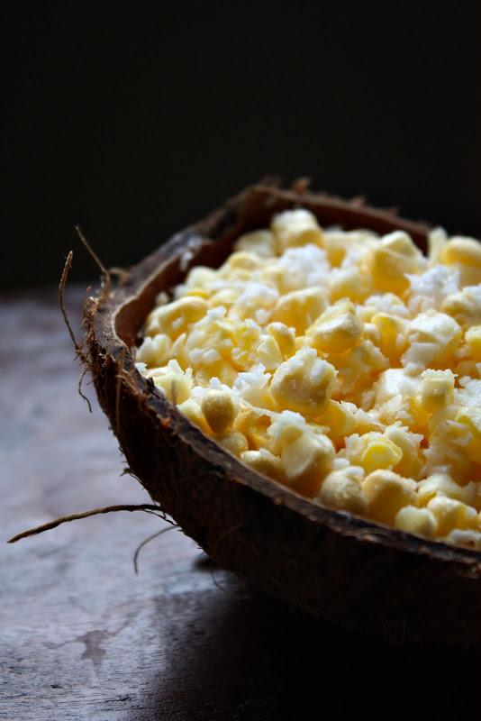 raw vegan corn coconut salad