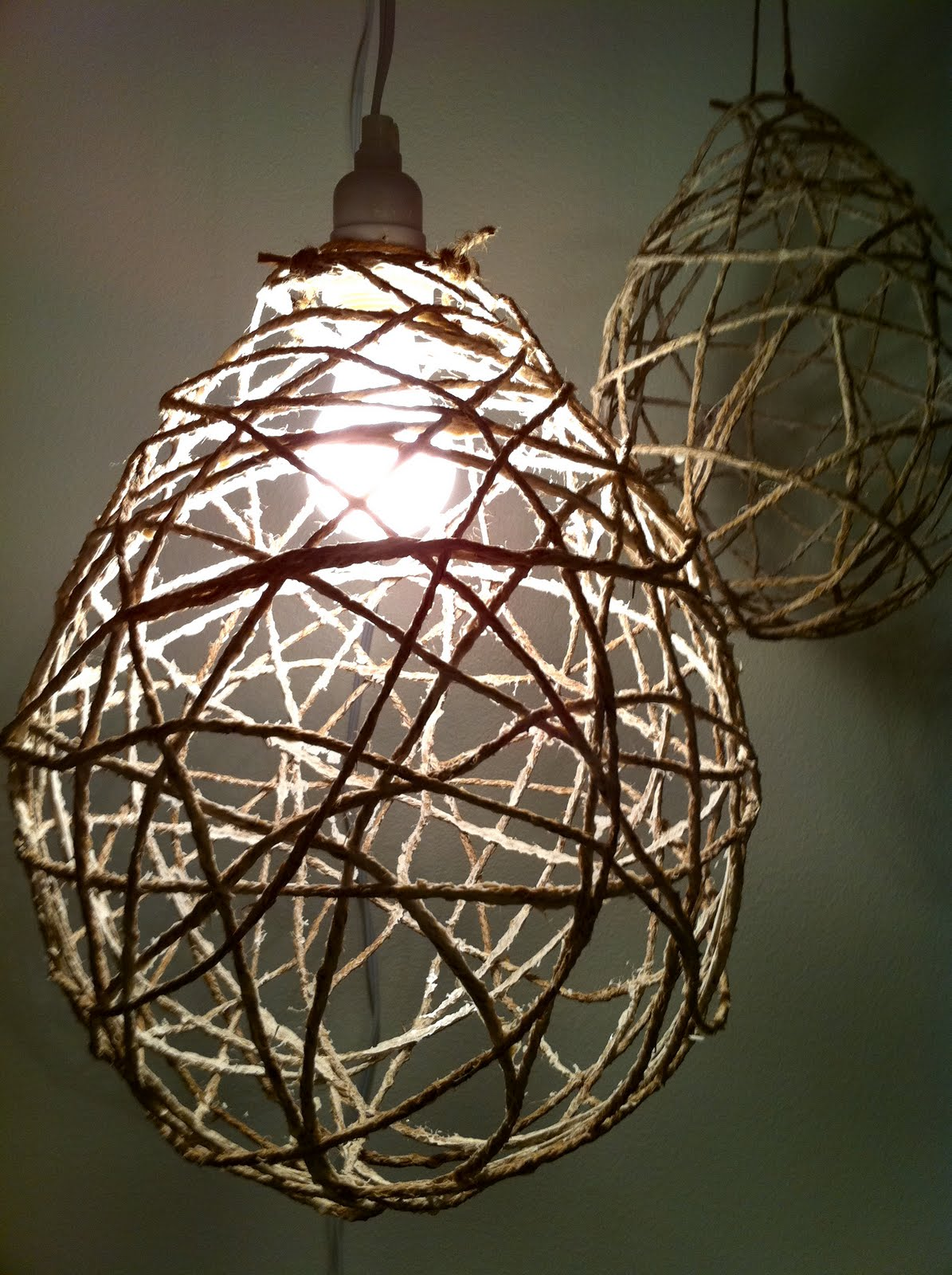 Design Devotee Diy Jute String Chandeliers