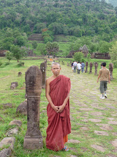 Ancient Peace Exudes from Wat Phou Rising up the Hill