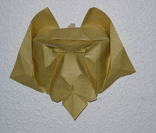 tiger mask head origami