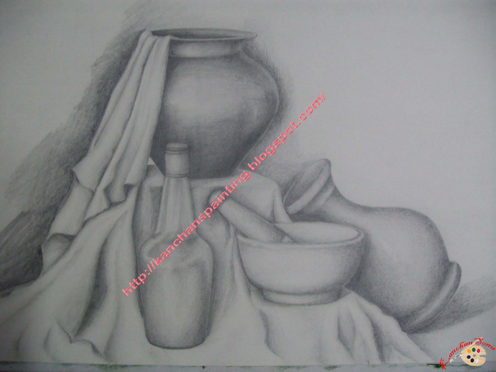 Still life pencil sketch 2
