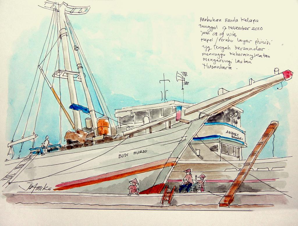 jatmika sketch drawing Pelabuhan Sunda Kelapa