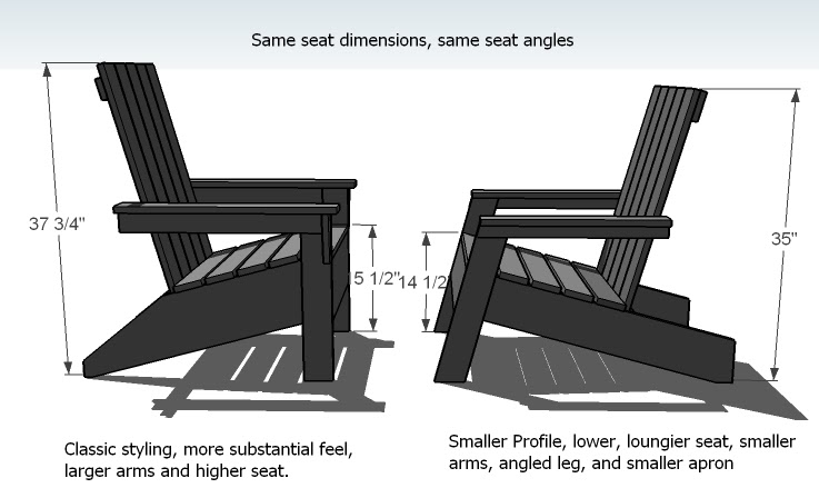 Isau Adirondack Chair Plans Metric Free