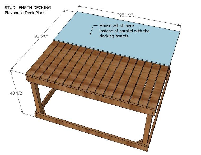 Playhouse Deck Options Ana White