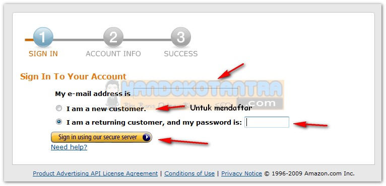 Login Kode API Key Amazon