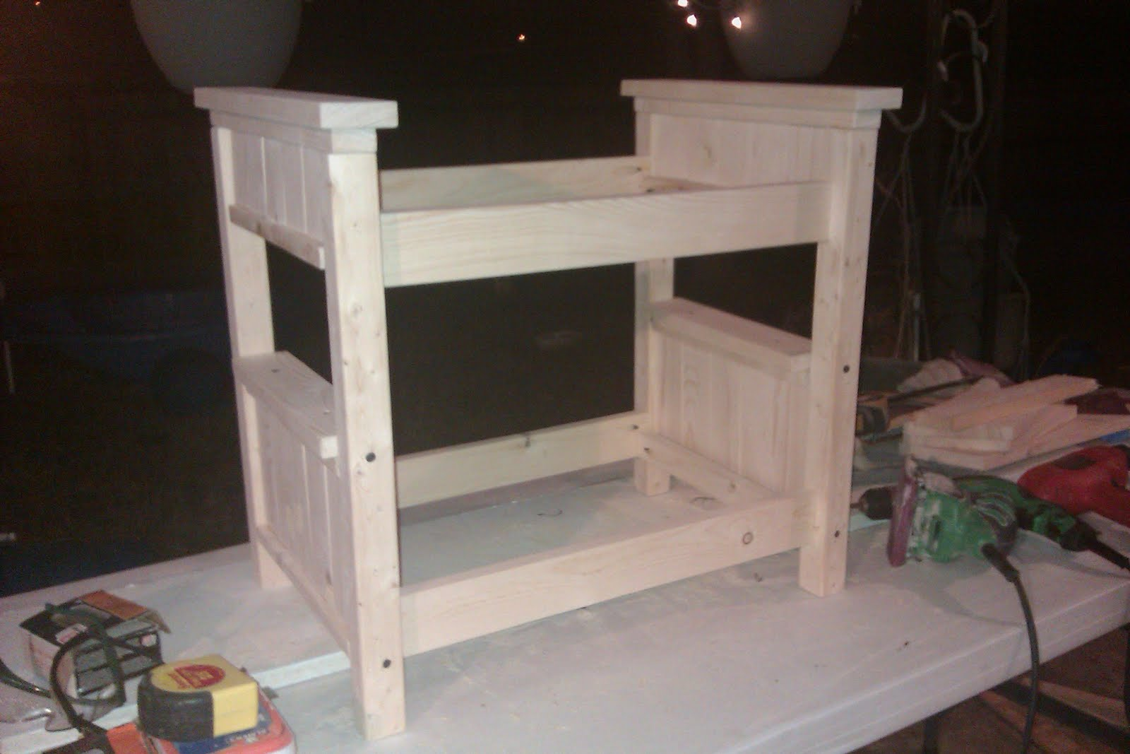 Build Cabin Plans With Loft Diy Pdf Wood Podium Plans Do: Momma With Tools: Farmhouse Doll Bunk Bed