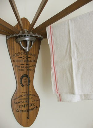 Farmhouse Musings Vintage Style Wooden Clothes Dryer Rack