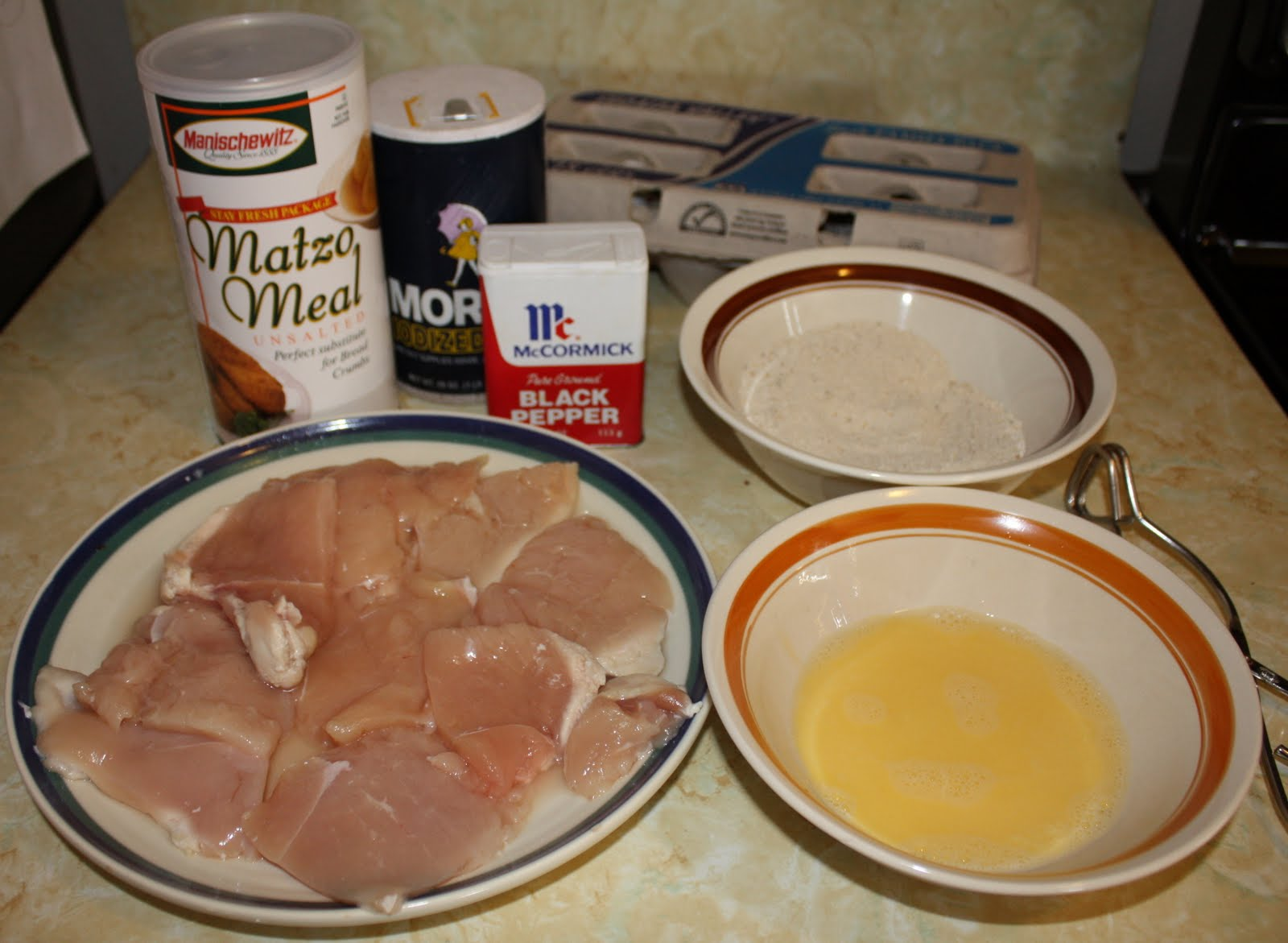 Cynde's Place: Matzo Crusted Chicken Cutlets
