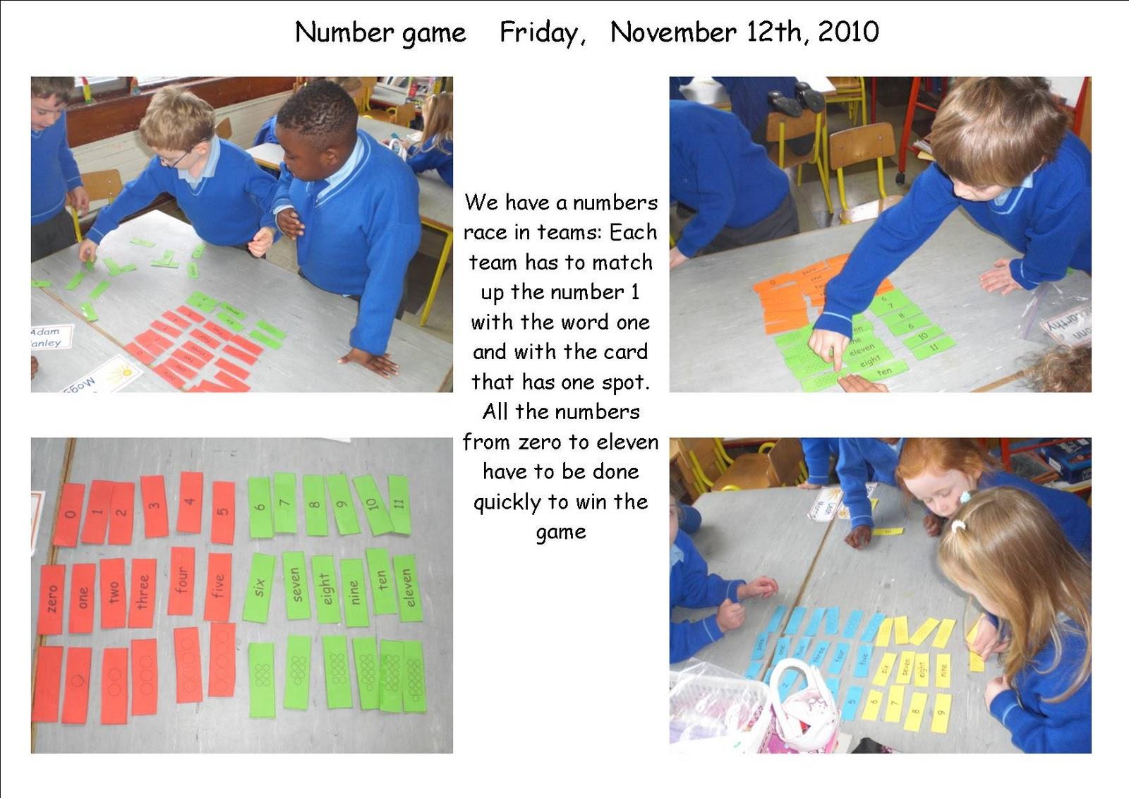Maths Page Shape And Number Games Senior Infants