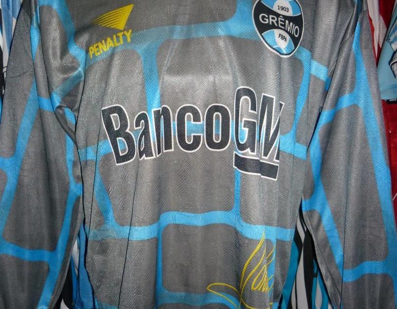 fe40195289 Brechó do Futebol. Bar & Camisetas.: Grêmio 1998 Camisa De Goleiro Muralha  Número 1 Danrlei.