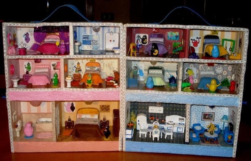 Creazioni di letizia l 39 interno della casa dei barbapap for Interno della casa