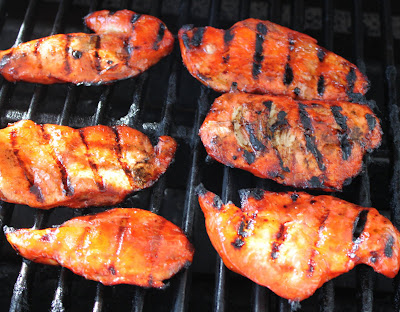 this is chicken on grill basted with catalina homemade dressing