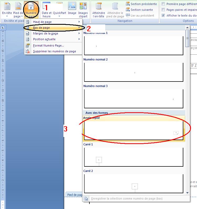 <b>Word</b> - Pied <b>de</b> <b>page</b>, En-tête et Numérotation. | Tuto Office