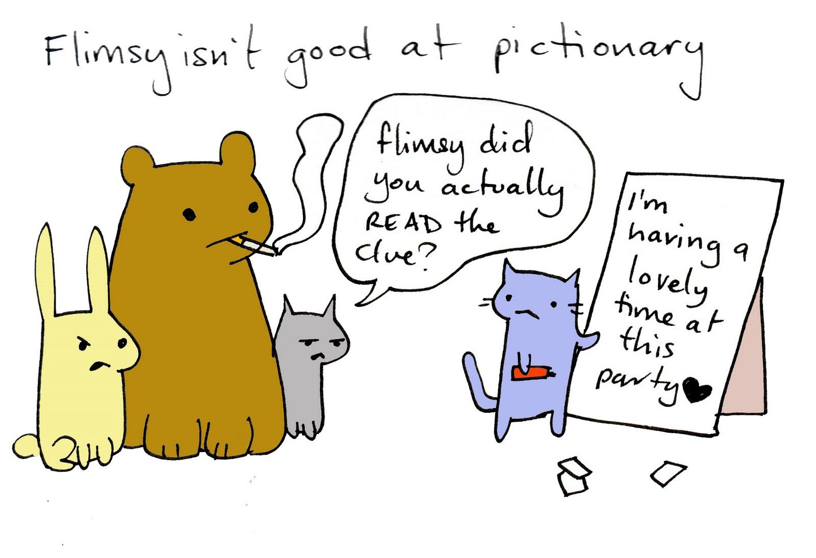 Flimsy the Kitten: Pictionary