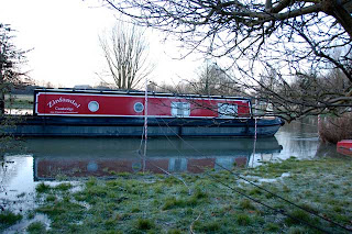 Zinfandel moored in flood