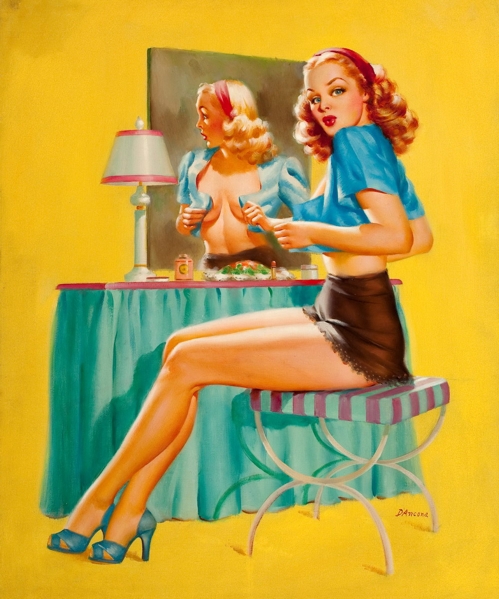 legends of pin up edward d ancona pin up and cartoon. Black Bedroom Furniture Sets. Home Design Ideas
