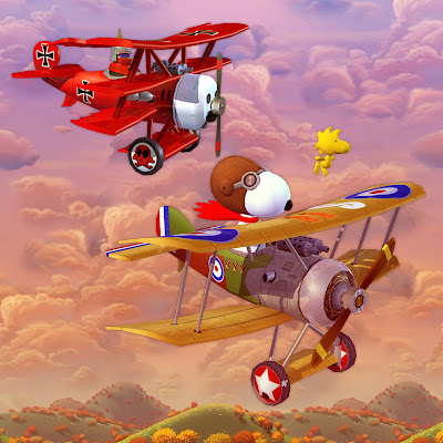Image result for red baron snoopy