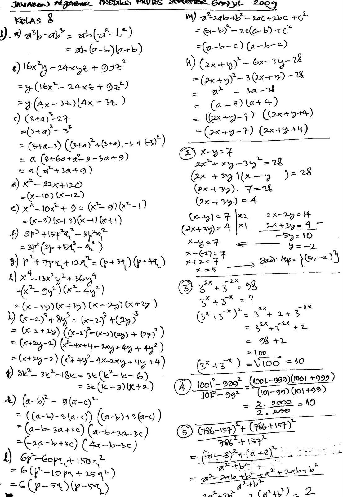 Soal Essay Ipa Kelas 7 Semester 1 Dan Kunci Jawaban Guru Galeri