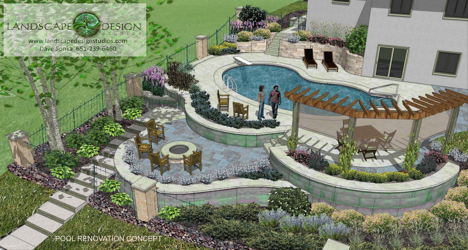 Stylish Home Design Ideas: Landscape Design Swimming Pool