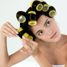 a long lasting curls with rollers