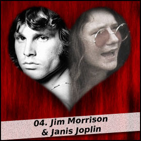 Jim Morrison and Janis Joplin