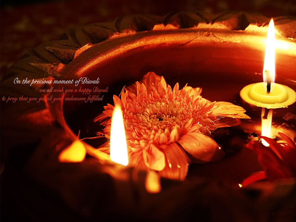 Beautiful Hd Happy Diwali With Candles Wallpaper: Latest Diwali Wallpapers For Your Desktop Free Download