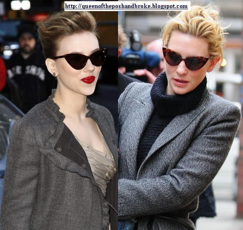 d3ad2e3154 Scarlett Johansson da cat eye güneş gözlüklerinden takanlardan