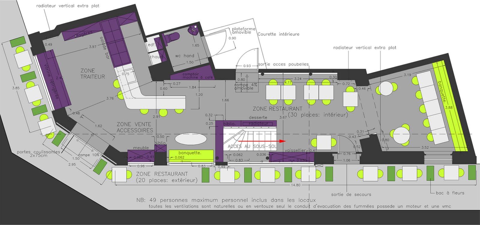atelier d 39 architecture castellani cr ation d 39 un restaurant vincennes. Black Bedroom Furniture Sets. Home Design Ideas