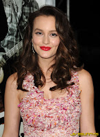 Leighton Meester sexy little red and white dress