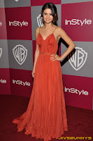Selena Gomez in a red dress at the InStyle awards