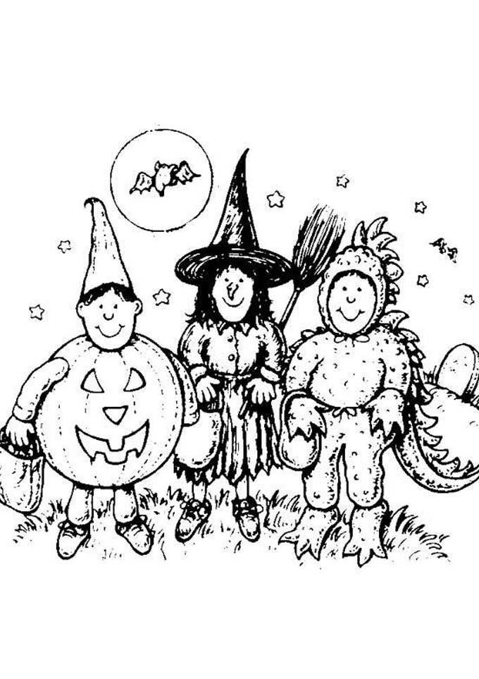 Dibujos Para Colorear Brujas De Halloween