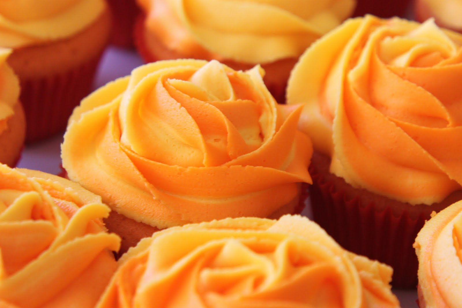 Blooming Orange Cupcakes