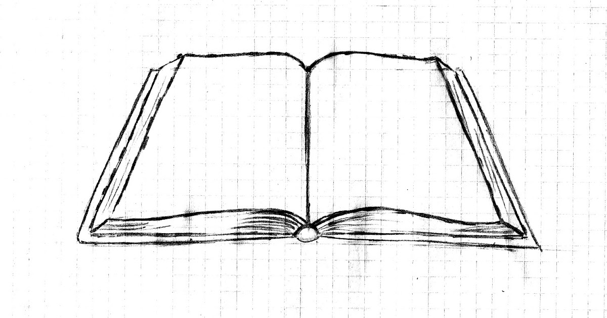 Weekly : Doodles and tuts: Drawing an open book