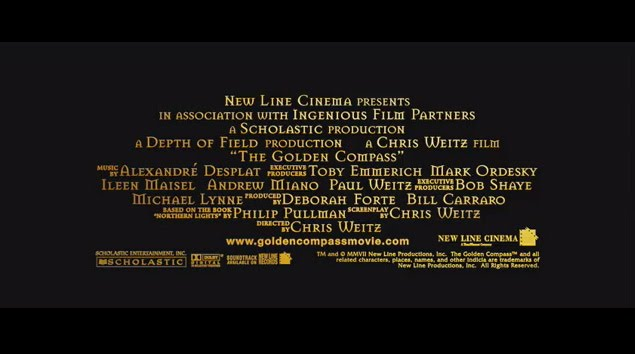 Movie End Credits Template These two credits are from the