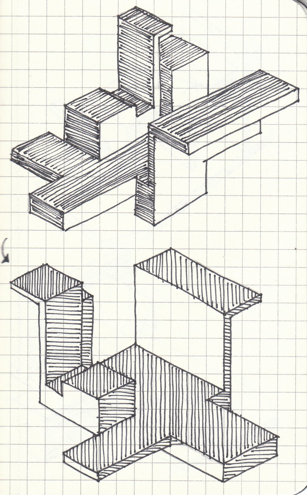 Luen Samonte: ARCH1101 The Space Between Axonometric