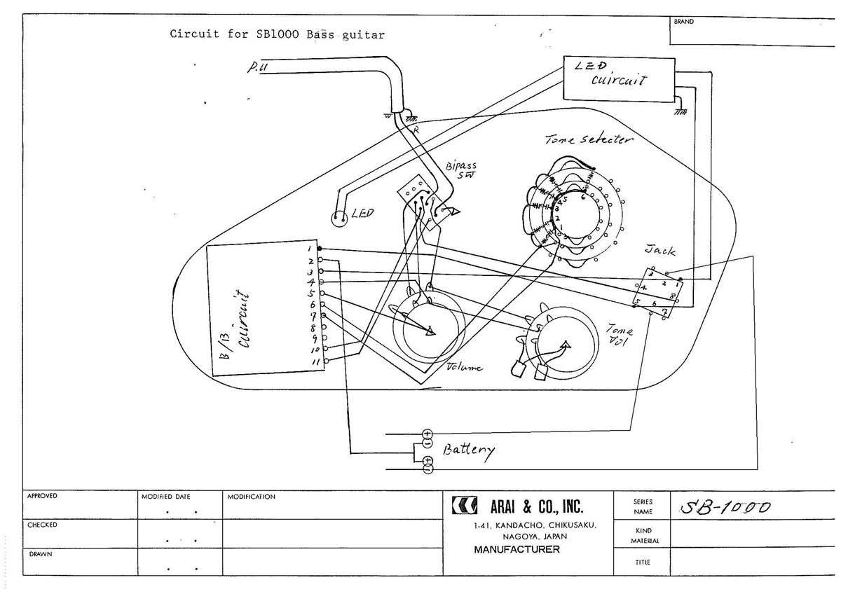 bass wiring diagram schematic