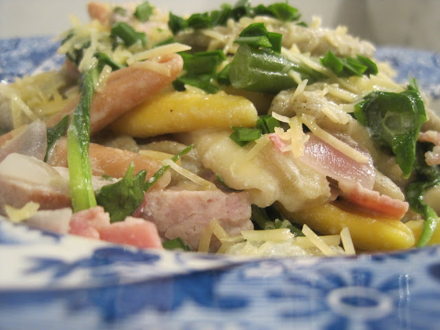Creamy Vegetable and Ham Pasta Recipe