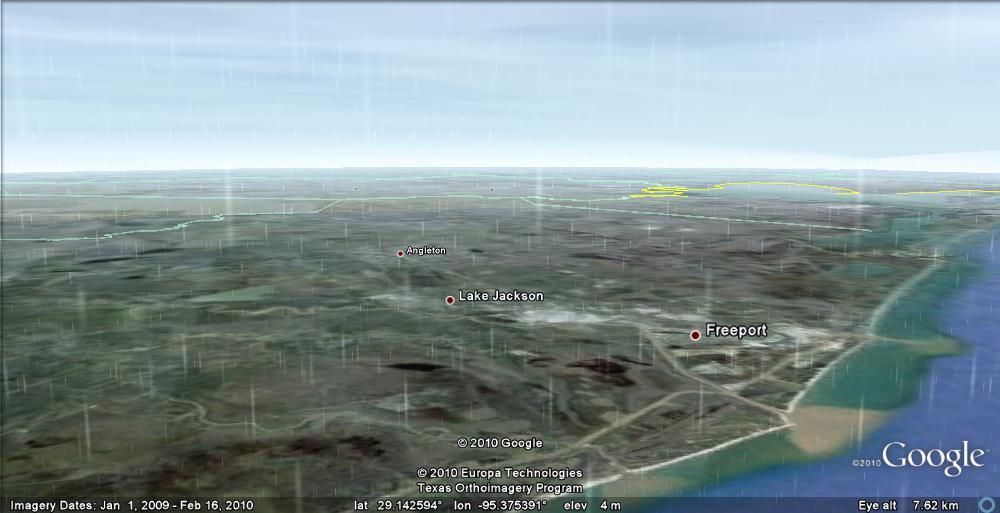 Google Earth rain