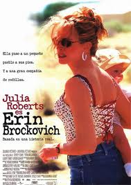 "Cine: ""Erin Brockovich"" con Julia Roberts."