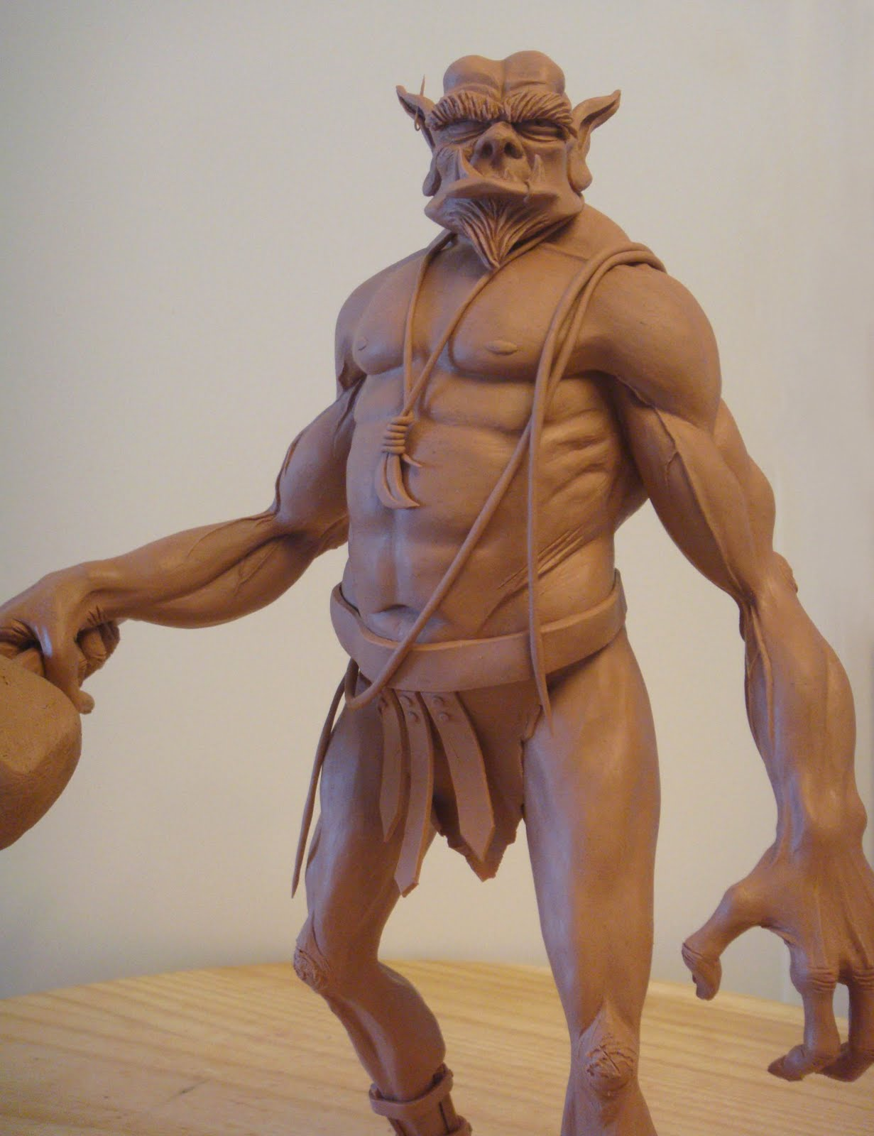 lulu character studios ogre maquette and character study