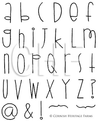 Different styles of writing alphabet metal stamps