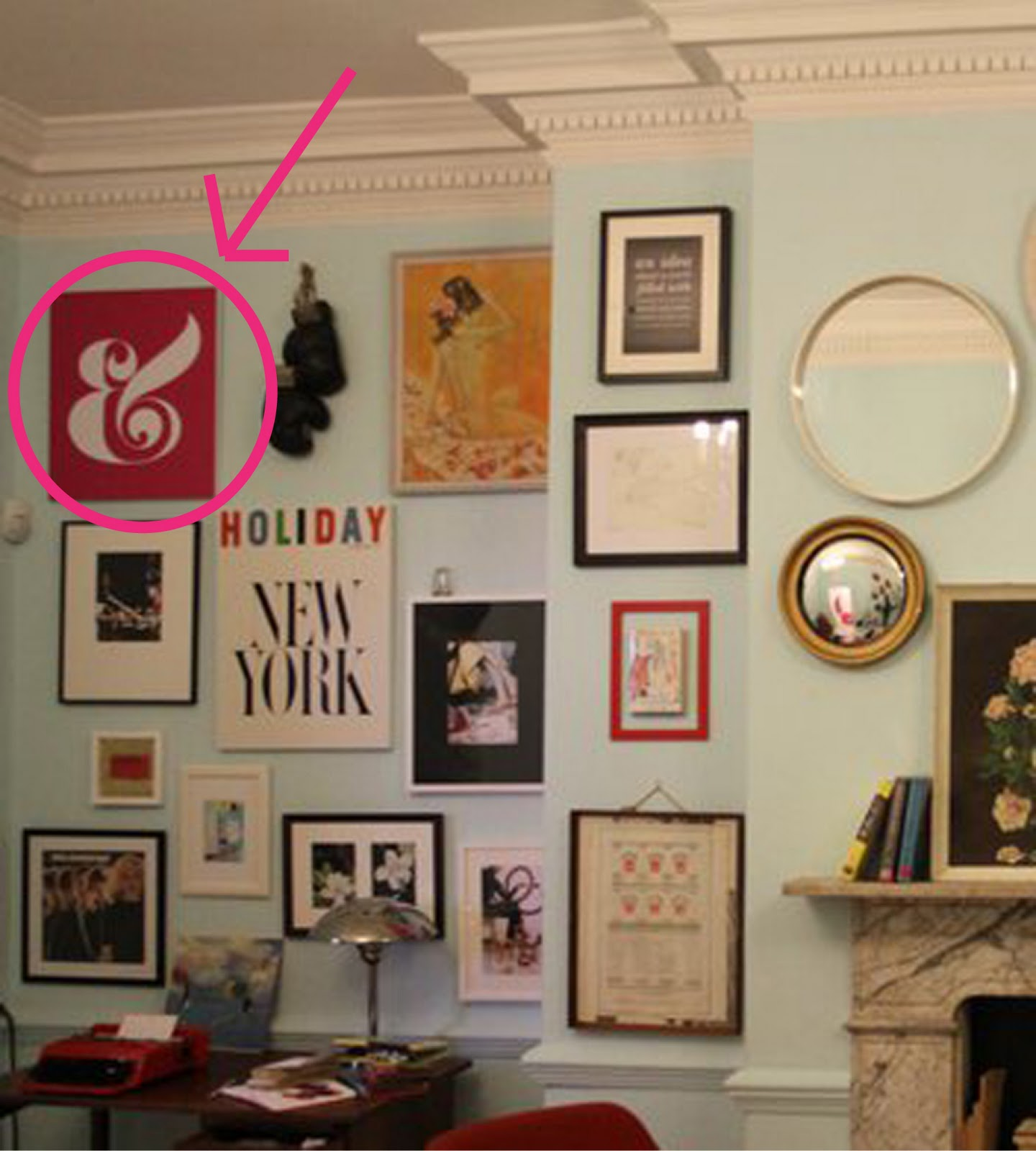 a home in the making: {create} ampersand wall art