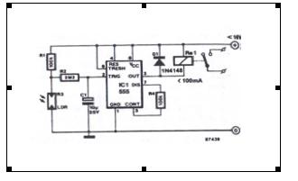 Light Sensitive Trigger: Circuit Flow Process