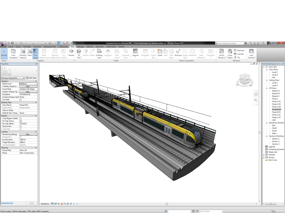BIM for Landscape Architecture and Urban Design: RAILWAY